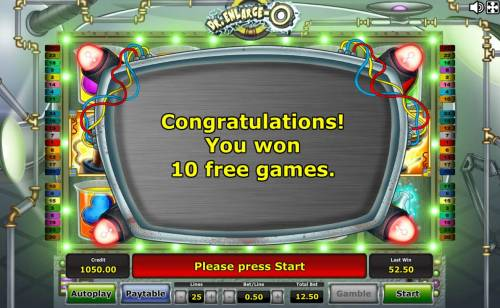 Dr. Enlarge-O Review Slots 10 Free Games Awarded.