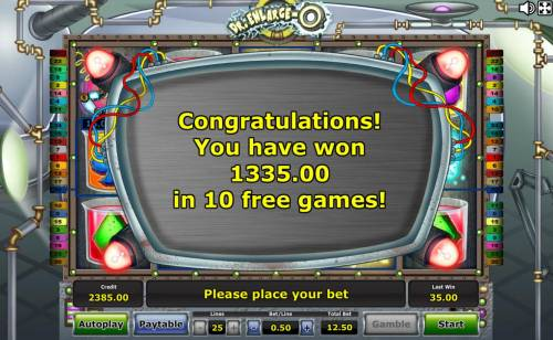 Dr. Enlarge-O Review Slots The Free Games feature pays out a total of 1,335.00 for an outstanding win.