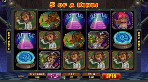 Dr Watts Up Review Slots here is an example of a 5 of a kind triggering a 5000 credit jackpot