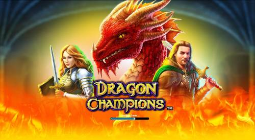 Dragon Champions Review Slots Splash screen - game loading