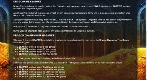 Dragon Champions Review Slots Dragonfire Feature Rules