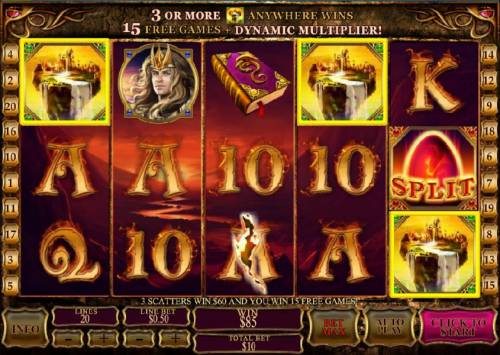 Dragon Kingdom Review Slots three scatter symbols triggers the free games feature
