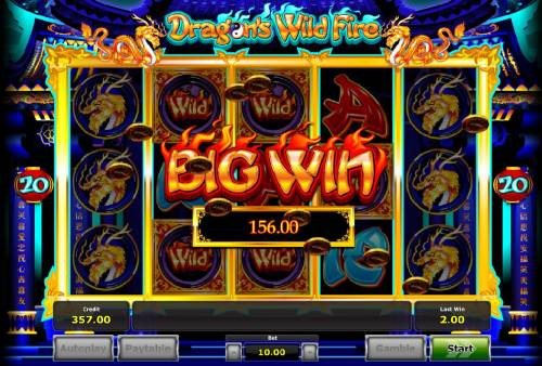 Dragon's Wild Fire Review Slots Flaming Re-Spin Bonus feature pays out a total of 156.00
