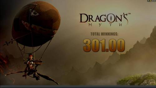 Dragon's Myth Review Slots The freespins feature pays out a total jackpot of $301.00 for a big win!