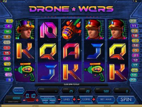 Drone Wars review on Review Slots