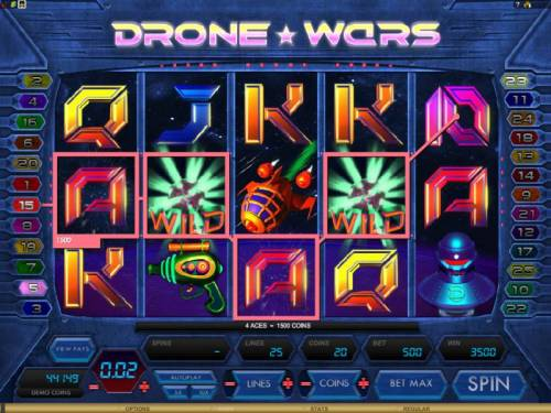 Drone Wars Review Slots here is an example of a 3500 coin multiline jackpot