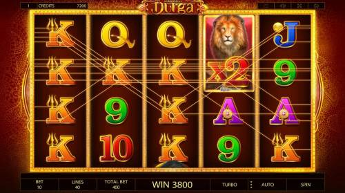 Durga Review Slots Multiple winning paylines triggers a big win