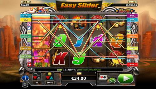 Easy Slider Review Slots Slide a wild on reel one triggers multiple winning paylines
