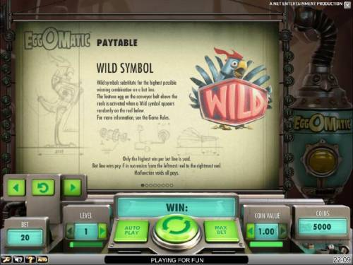 EggOMatic Review Slots wild symbol game rules