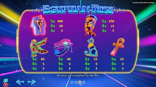 Egyptian Rise Review Slots Slot game symbols paytable