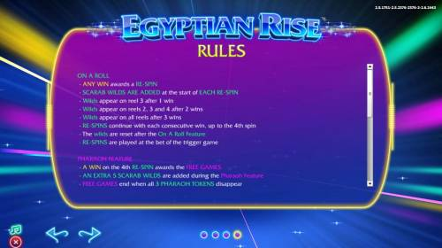 Egyptian Rise Review Slots On A Roll Feature Rules