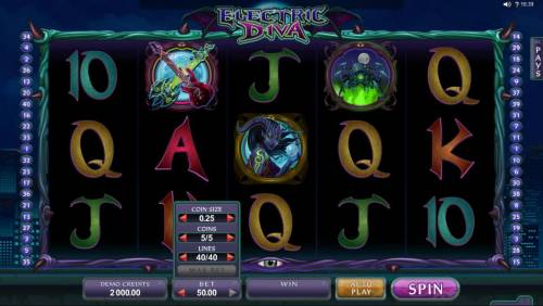 Electric Diva Review Slots Click BET to change the coin value, coins per line and the number of lines played.