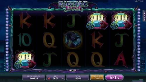 Electric Diva Review Slots Three scatter symbols triggers a winning payout.