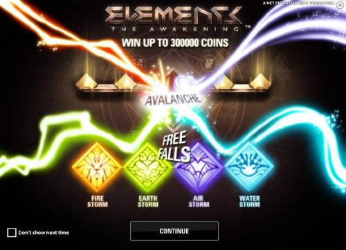 Elements The Awakening Review Slots win up to 300000 coins