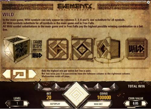 Elements The Awakening Review Slots wild symbol rules