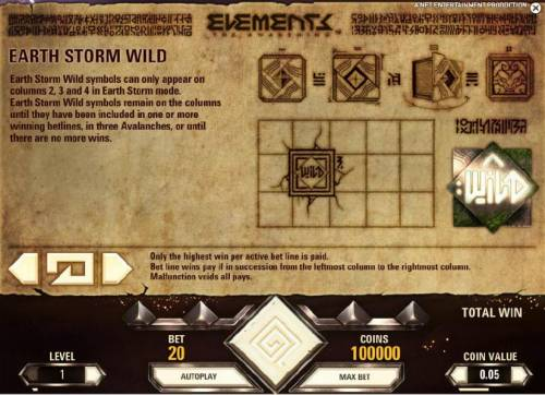 Elements The Awakening Review Slots earth  storm wild rules