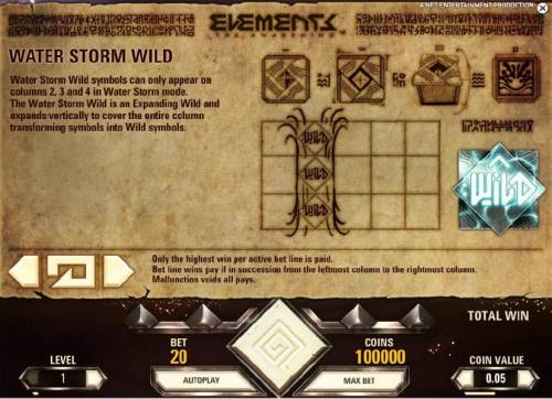 Elements The Awakening Review Slots water storm wild rules