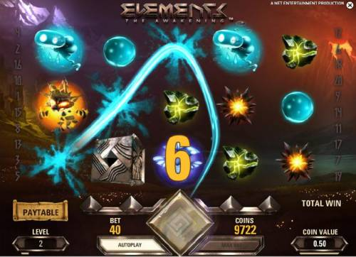 Elements The Awakening Review Slots water symbols triggers win and second avalanche acheived