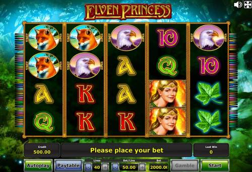 Elven Princess Review Slots An elfs and fairytale forest themed main game board featuring five reels and 40 paylines with a progressive jackpot max payout
