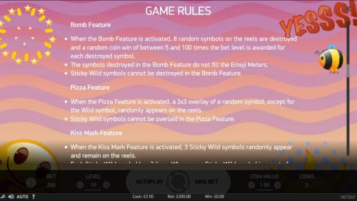 Emoji Planet Review Slots Feature Rules