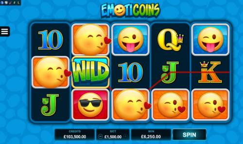 Emoticoins Review Slots A 6250 coin big win triggered by multiple winning paylines