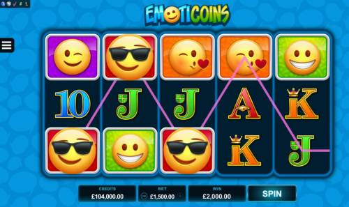 Emoticoins Review Slots Multiple winning paylines triggers a big win!