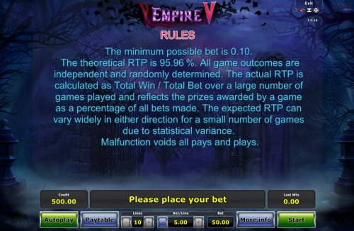Empire V Review Slots General Game Rules