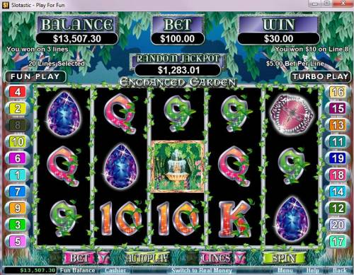 Enchanted Garden review on Review Slots