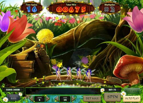 Enchanted Meadow Review Slots game end when a hornet is revealed