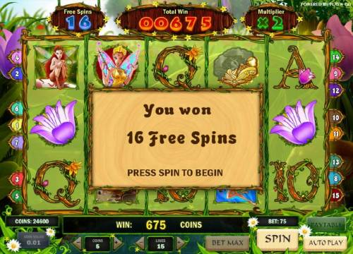 Enchanted Meadow Review Slots we have 16 free spins with a 2x multiplier