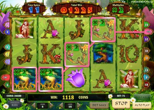 Enchanted Meadow Review Slots four of a kind with a 2x multiplier riggers a 350 coin payout