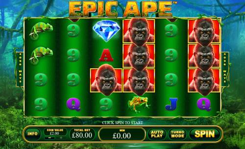 Epic Ape Review Slots Main Game Board