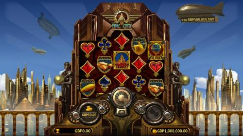 Epic City Review Slots Main game board featuring five reels and 20 paylines with a $500,000 max payout