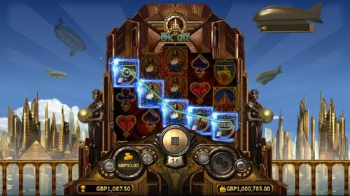 Epic City Review Slots Wild symbols combine with the locomotive symbol leading to a 500.00 line pay out.