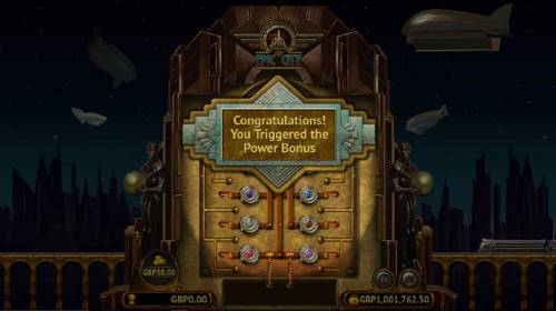 Epic City Review Slots The Power Bonus game board. Click on the colored buttons to reveal a prize. Find 3 advance to go to the next level. Find the Collect and the bonus feature ends.