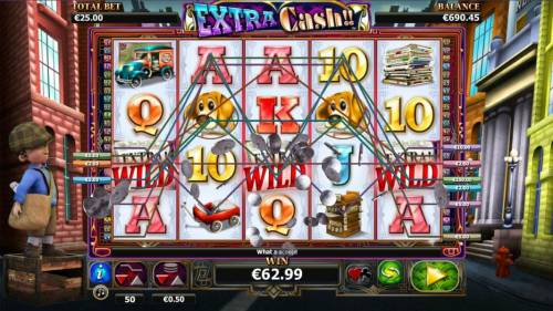 Extra Cash Review Slots Multiple winning paylines triggers a big win.