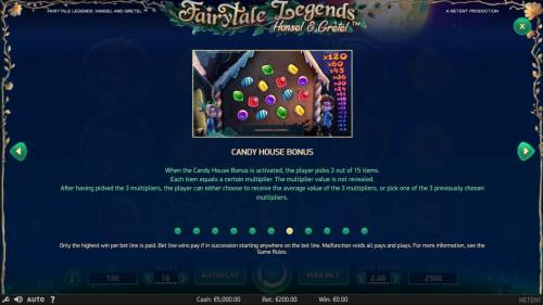 Fairytale Legends Hansel & Gretel Review Slots Candy House Bonus Rules