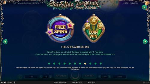 Fairytale Legends Hansel & Gretel Review Slots Free Spins and Coin Win Rules