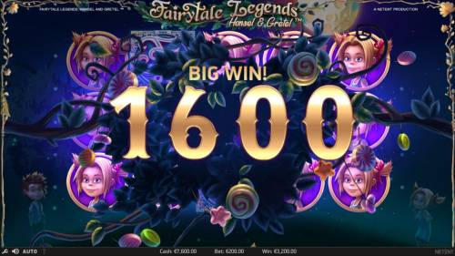Fairytale Legends Hansel & Gretel Review Slots A 1600 coin big win si triggered by the Bonus feature.