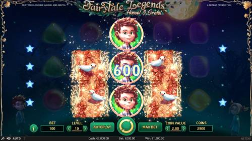 Fairytale Legends Hansel & Gretel Review Slots Three consecutive symbols on a bet line triggers a win even in the middle of the reels.