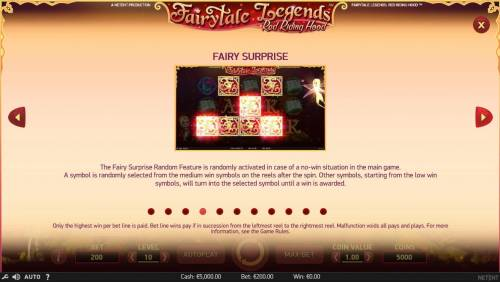 Fairytale Legends Red Riding Hood Review Slots Fairy Surprise Game Rules