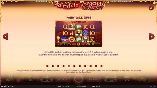 Fairytale Legends Red Riding Hood Review Slots Fairy Wild Spin Game Rules