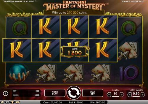 Fantasini Master of Mystery review on Review Slots