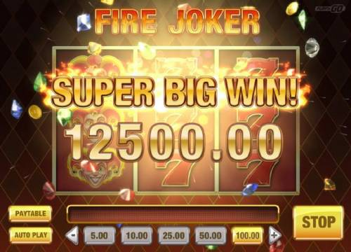 Fire Joker Review Slots Wheel of Multipliers leads to a 12500.00 Super Big Win
