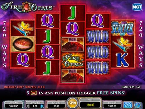 Fire Opals Review Slots another example of a multiline 160 coin jackpot