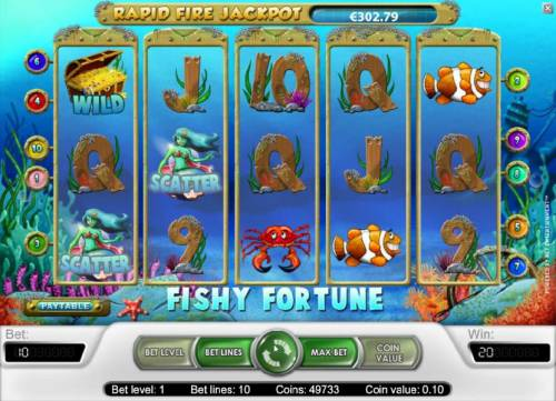 Fishy Fortune Review Slots a pair of scatter symbols triggers a 2x your line bet