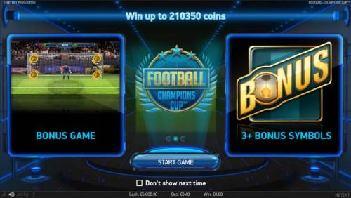 Football Champions Cup Review Slots Bonus Game and 3+ Bonus Scatters