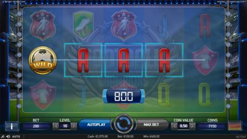Football Champions Cup Review Slots A four of a kind triggers a 800 coin line payout