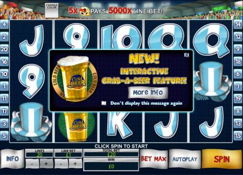 Football Fans Review Slots New interactive grab-a-beer feature