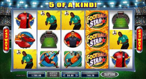 Football Star Review Slots Five of a kind